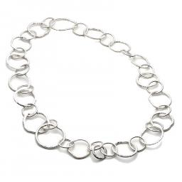 MADE TO ORDER: Unique Sterling Silver Reticulated irregular link Necklace