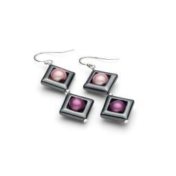 Harlequin Square Earring (large/drops) Earrings