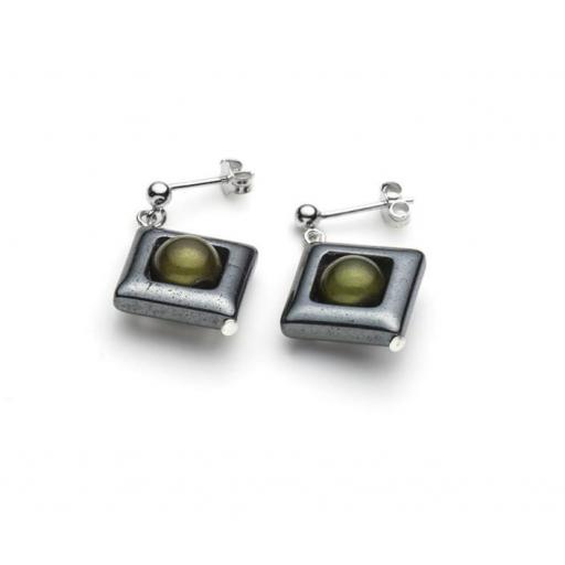Harlequin Square Ear Studs