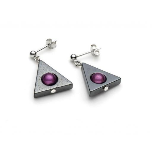 Harlequin Triangle Ear Studs