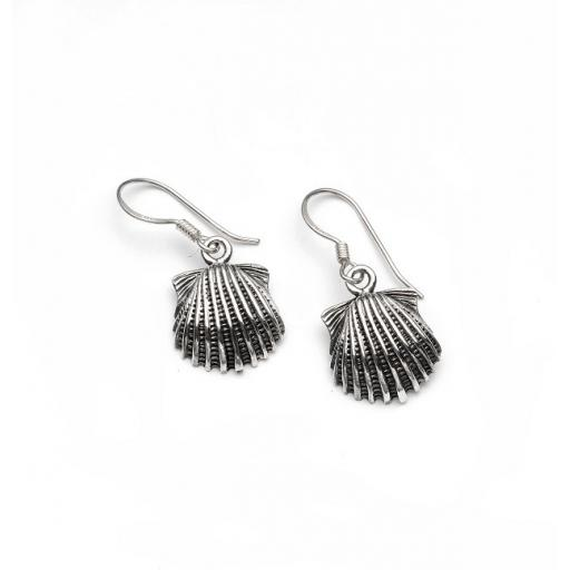 Sterling Silver Scallop Shell Earrings