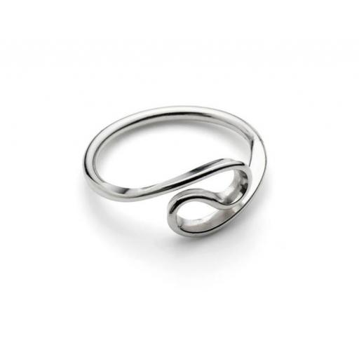"Hand made Sterling Silver ""Wave"" ring"