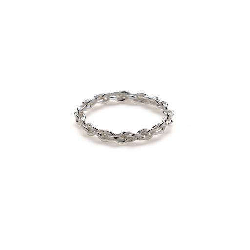 Hand twisted Sterling Silver double twist band