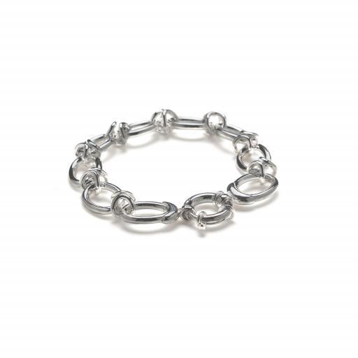Heavy Solid Sterling Silver Oval Link Bracelet