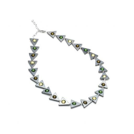 Harlequin triangle Necklace