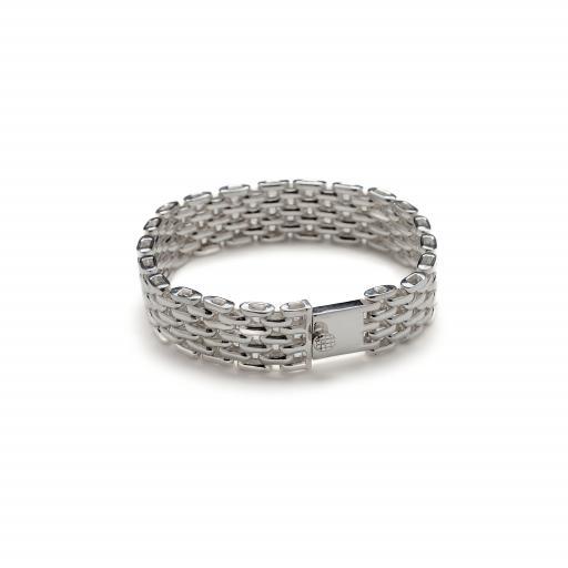 Solid Sterling Silver Close Link Bracelet