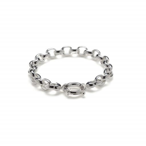 Heavy Solid Sterling Silver 'Belcher' Link Bracelet