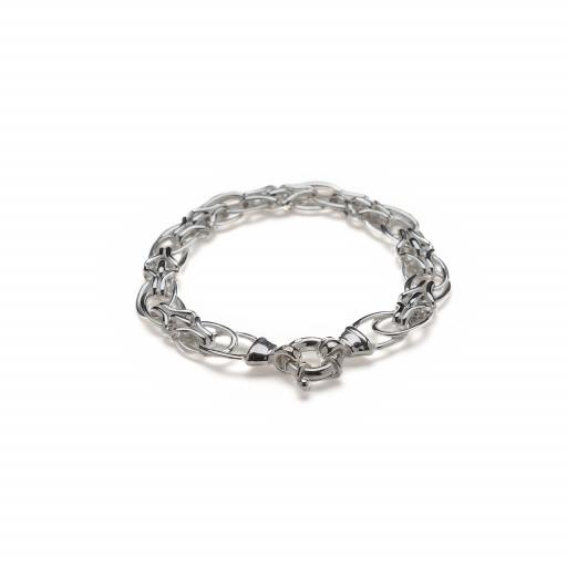 Sterling Silver Double Oval Link Bracelet