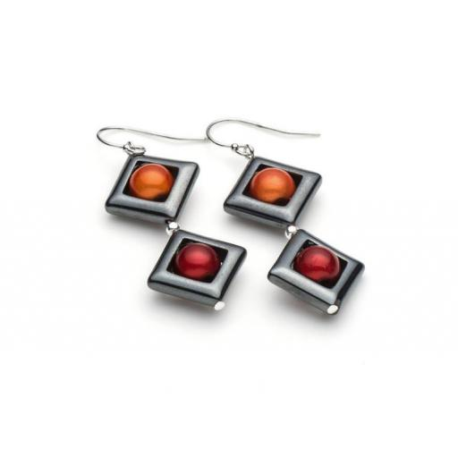 Harlequin Square Earring (large/drops) Earrings