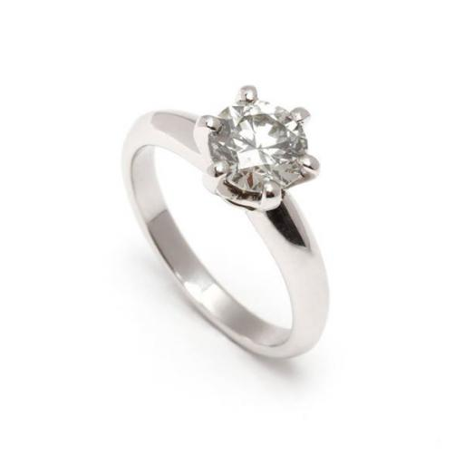 1.43 Carat Diamond Solitaire set in Platinum