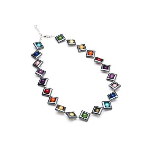 Harlequin Square Necklace