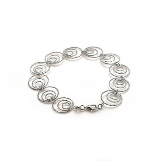 Sterling Silver 'Tri-Circle' Bracelet