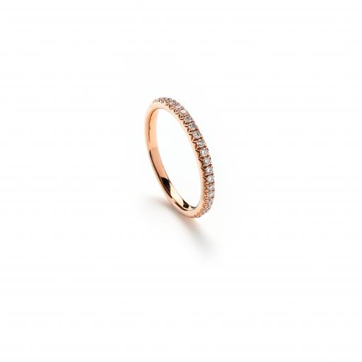 18ct Rose Gold 1/2 Eternity Ring set with diamonds