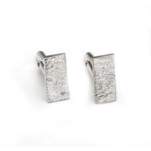 Chunky Sterling Silver Cufflinks