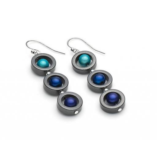 Harlequin Triple Circle Earrings