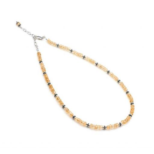 Citrine and Sterling Silver Necklet.