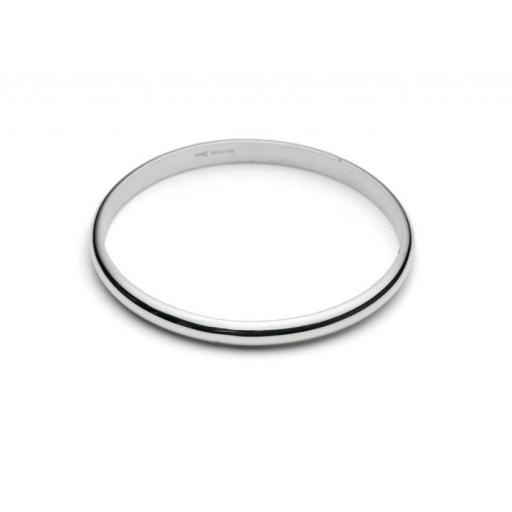 Heavy Weight Sterling Silver Bangle