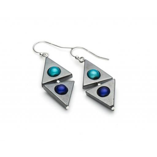 Harlequin Large Triangle Earrings