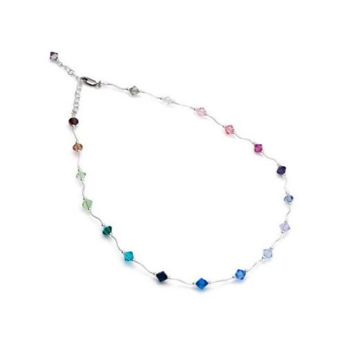 Sterling Silver and Swarovski Crystal necklet - various colours and combinations available.