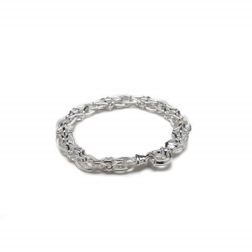 Sterling Silver Solid Multi Link Bracelet
