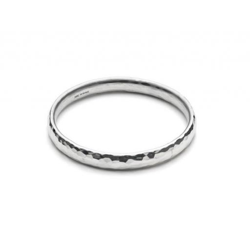 Heavy Guage Sterling Silver Textured Bangle