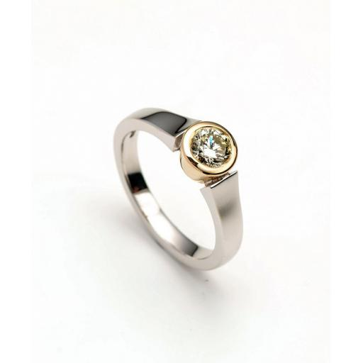 18ct White and Yellow Gold 1/2 carat Diamond Solitaire