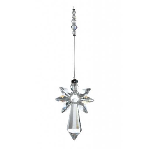 Large Guardian Angel Swarovski Crystal Ornament